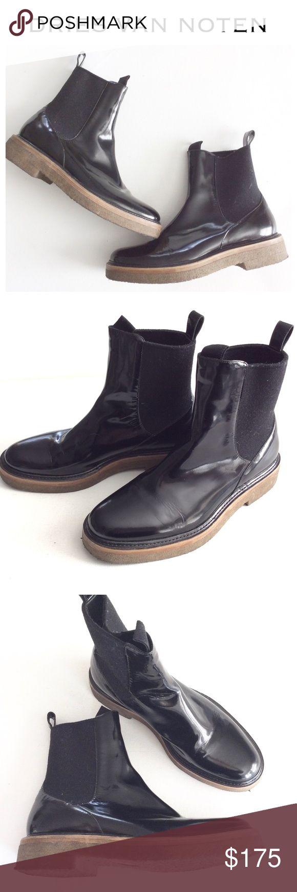DRIES VAN NOTEN. Black Chelsea ankle Boots 37 euc Fabulous boots by DRIES VAN NOTEN. Pull on ankle boots, so versatile. Size 37. Dries Van Noten Shoes Ankle Boots & Booties