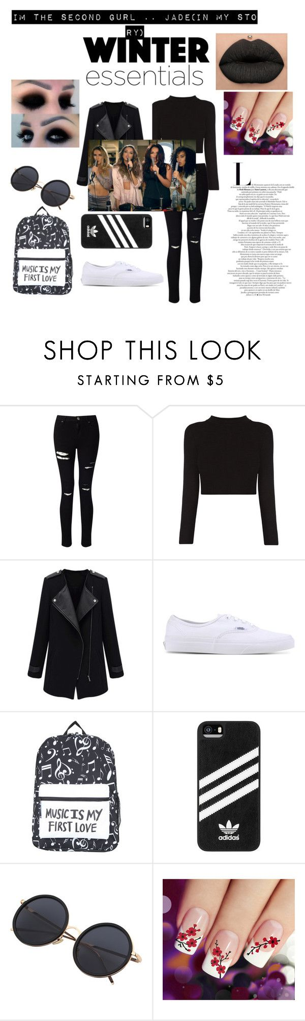 """Perrie, Jade, Jesy, & Leigh-Anne."" by emo-presley ❤ liked on Polyvore featuring Miss Selfridge, Vans and adidas"
