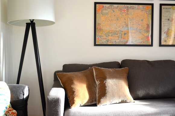Velvet pillows and floor lamp from @Argos  Both from the Habitat selection they carry in store and online