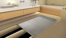 Here you can see what's going on under your tile or slate floors when you use James Hardie Secura Interior Flooring #jameshardie #secura #safeflooring #flooringtricks #flooringsupport #bathroomfloor