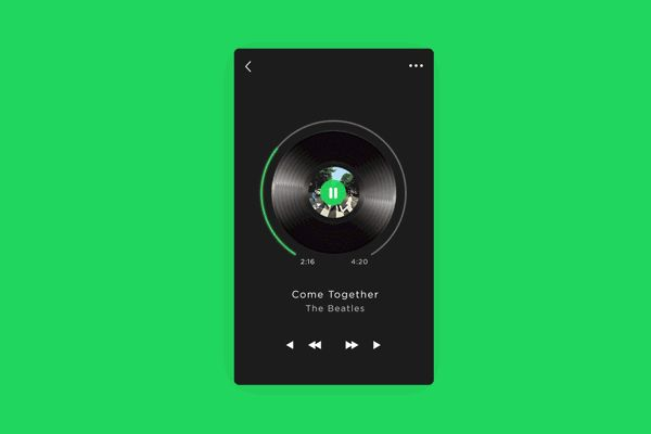 Music Player UI Animation / Interaction on Behance