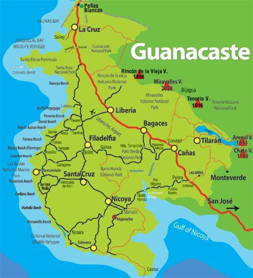 Maps of Guanacaste