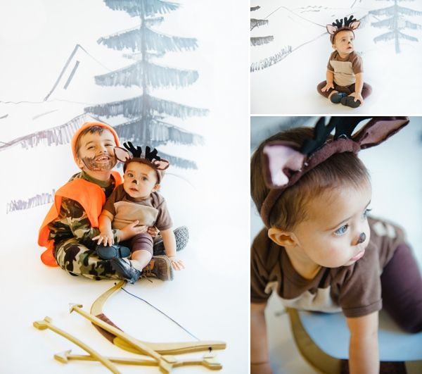 Unique halloween costume ideas for kids | best home made brother sister toddler Halloween costume inspiration | creative cute handmade Hunter + Deer children's costume | Baby Kid Family Photographer Vanessa Kruse Photography | on COUTUREcolorado baby style blog