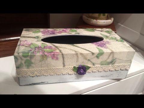 Caja de madera decorada con cascara de huevo y decoupage. Diy manualidades- Conideade - YouTube