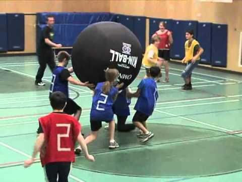 Great video of how to play kin ball & other activities with the ball