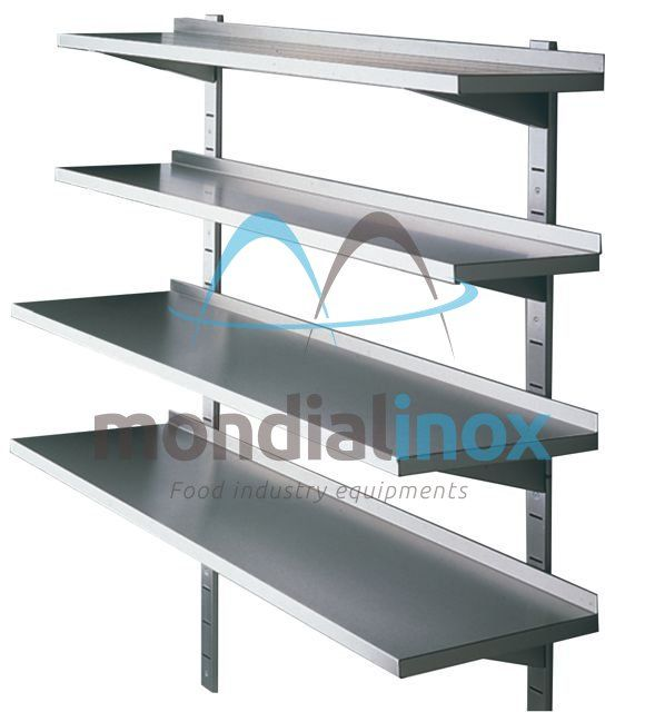 Stainless Steel Wall Shelves With Adjustable Consoles Plank Steel Shelf Best Ikea Shelves