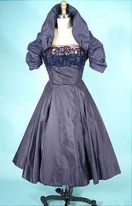 1940 1950 fashion cocktail dresses