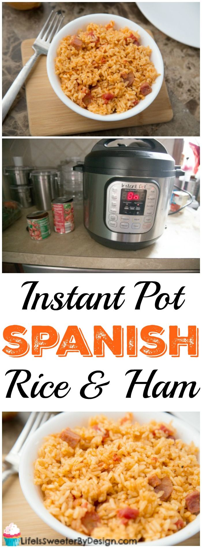 Instant Pot Spanish Rice with Ham is a delicious electric pressure cooker recipe that is great for a side dish or even a light meal. This Spanish Rice recipe will become a family favorite and is so quick to make in the Instant Pot!