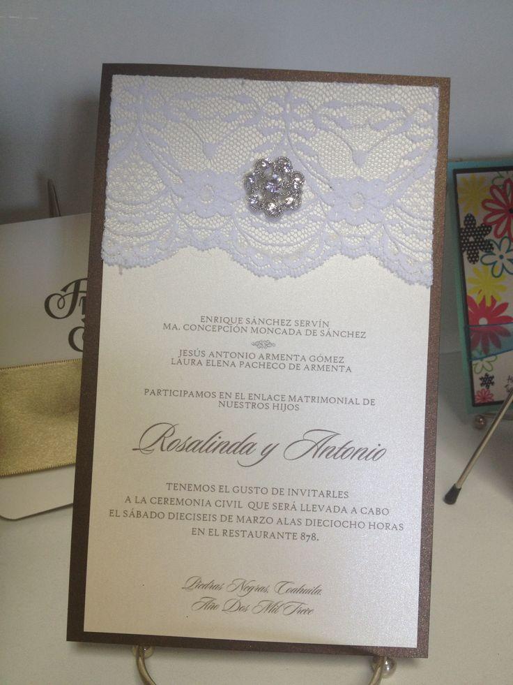 Customized WEDDING Invitations #lace #ideascreatif #eaglepass #sanantonio