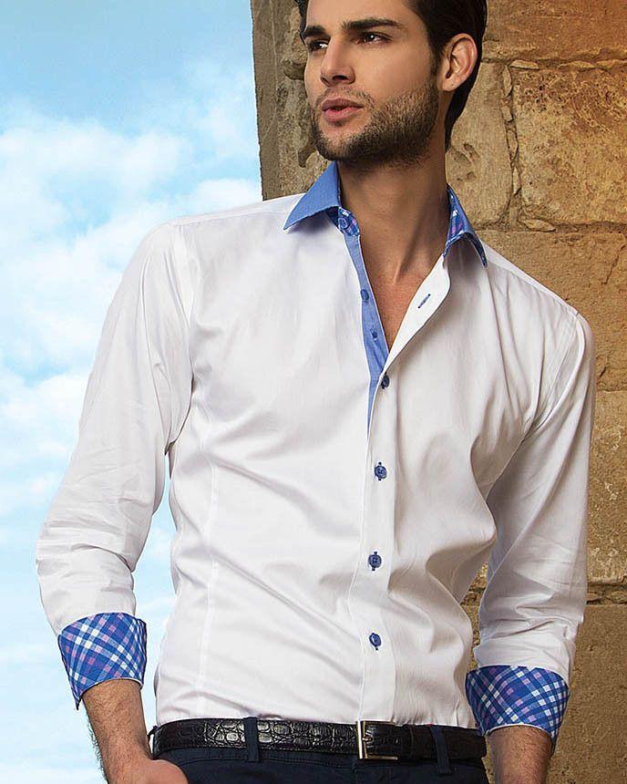 White dress shirt for men - Bertigo Shirt - James 05