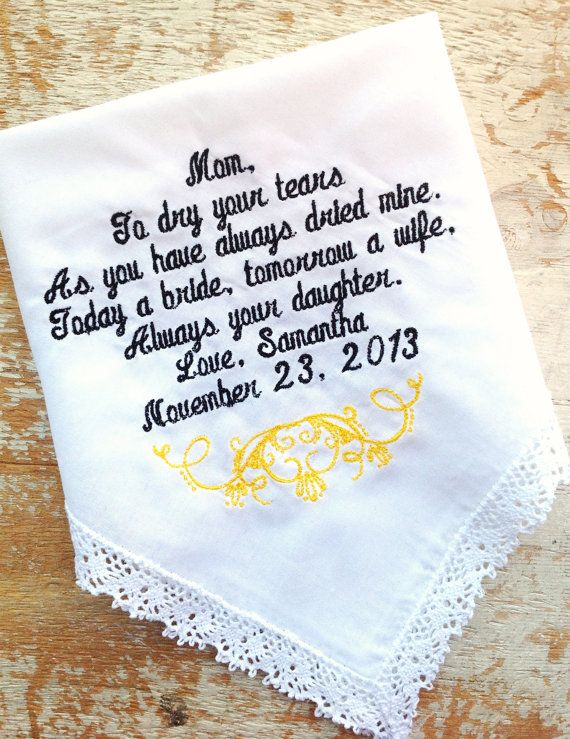 Embroidered Tie Label Personalized Wedding Dress Custom Made Patch For Dad By Canyon Embroidery Handkerchiefs