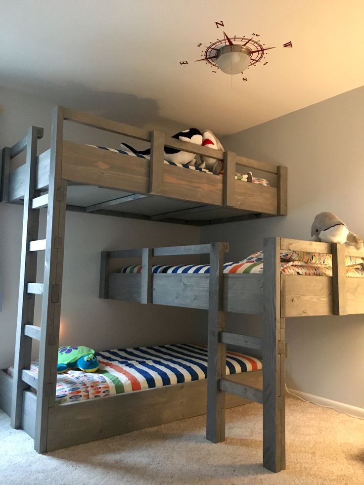Triple bunk beds, small room ideas