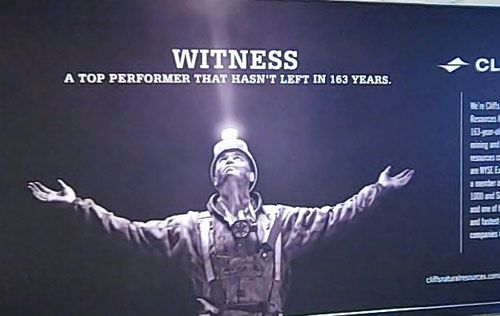 Witness -- This ad is an inside reference in Cleveland to Lebron James' departure....noting that a local energy company is great, and still there.