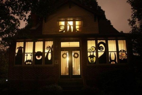 Ideen wie Sie Ihre Fenster mit Scherenschnitten für Halloween dekorieren können-11