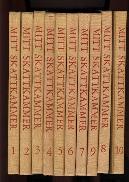 Mitt Skattkammer 1-10 , 4.opplag 1959 Red. m.fl. Alf Prøysen. I grew up with these books #Norway ☮k☮ #Norge