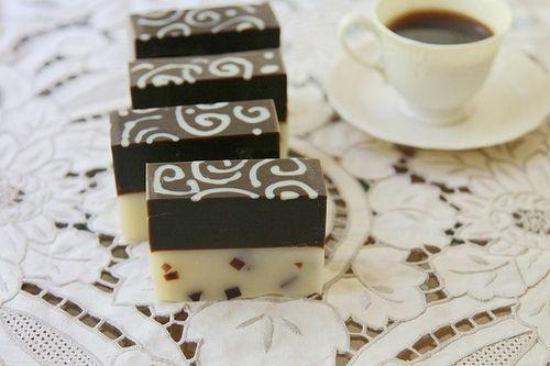 Stunning Coffee soap - fabulous technique