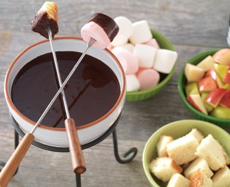You guests will flip for this creamy spiced chocolate dip with hint of heat.