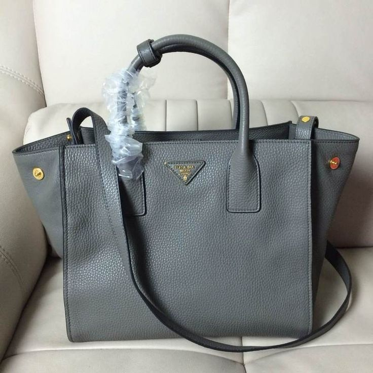 prada leather bag men - Prada BN2693 Women Medium Vit Daino Calf Leather Shopping Tote ...