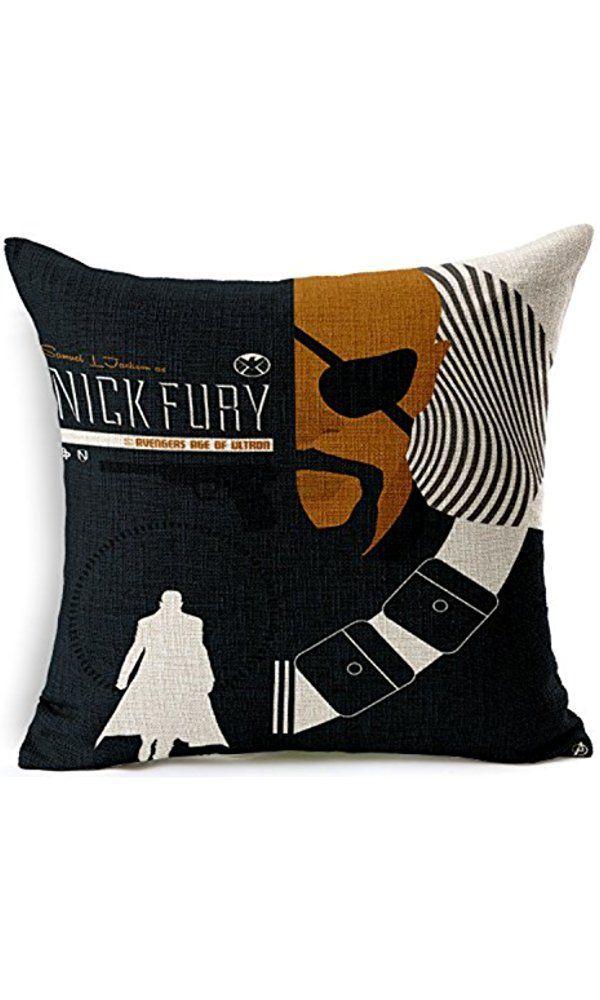 Chicozy Cotton Avengers Alliance Batman Captain America Iron Man Hulk Pillow  Cover Ikia Style Sofa Cushion