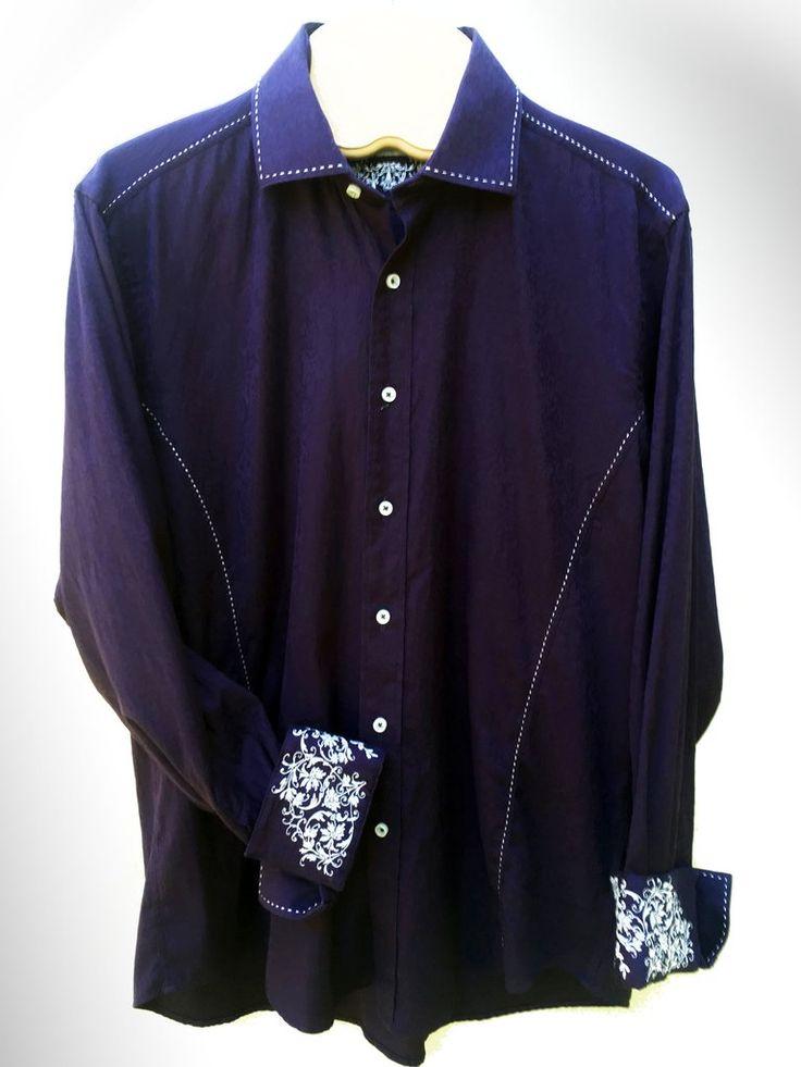 Chemise Zagiri à manches longues pourpre foncée avec belle broderie et tissus à motifs paisley.  ♦ 24,99$ CAD ♦ Zagiri long sleeve dark purple shirt with beautiful embroidery and paisley patterned.