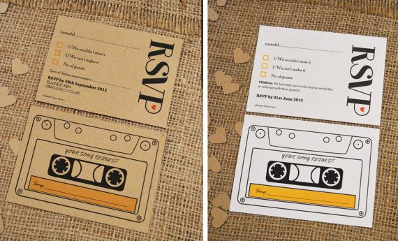 Rustic RSVP Card  - Kraft Paper or White Linen Paper with Kraft or Gold envelope