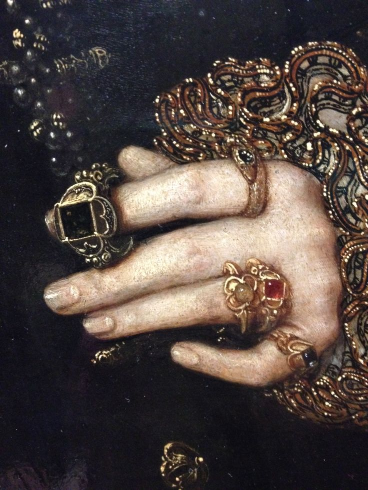 Tudor and Elizabethan rings from National Portrait Gallery