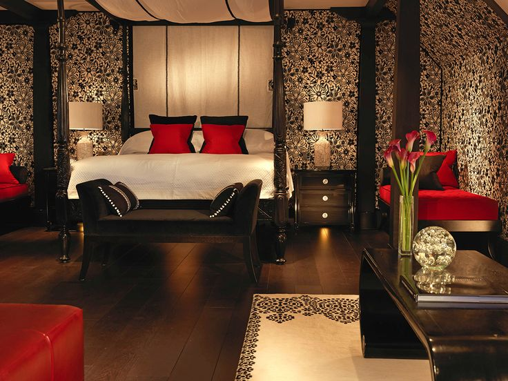 25 best ideas about red bedroom design on pinterest red for Boudoir bedroom designs