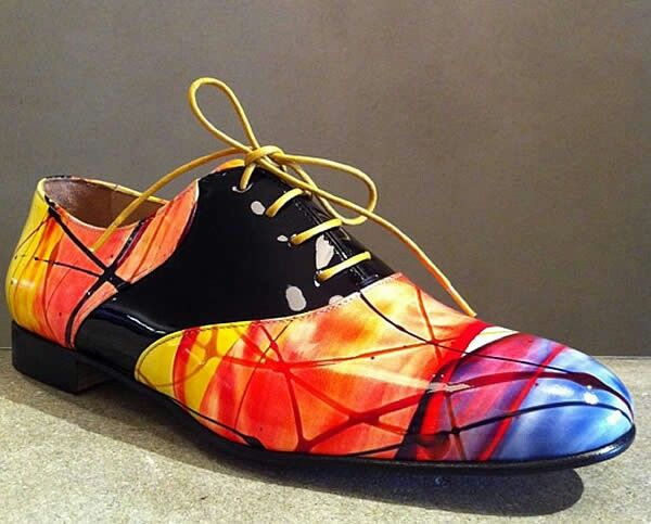 Extreme male shoe rainbow - mannenschoen regenboog