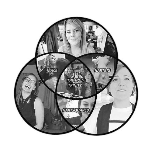 Hannah Hart  Grace Helbig  Mamrie Hart  Holy Trinity  YouTubers  #teaminternet