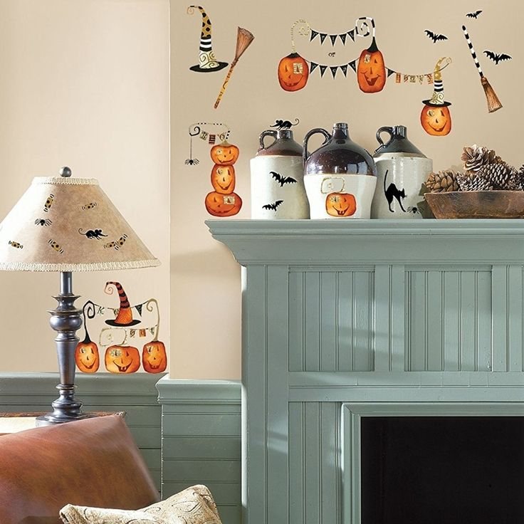 Halloween Pumpkins Peel and Stick Wall Decals, 1-Pack Wall Vinyl