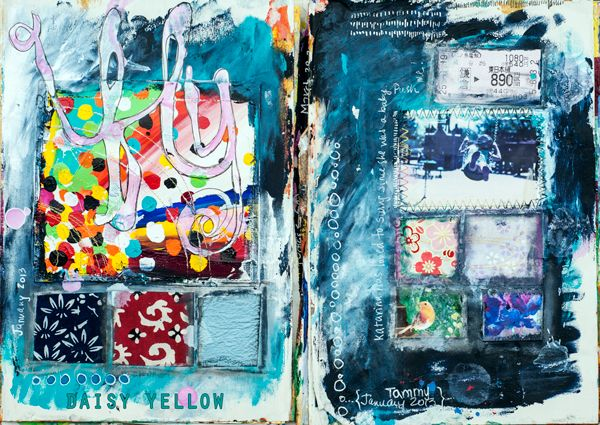 Art Journaling101 at Daisy Yellow-this is very helpful if you are just getting started doing this...
