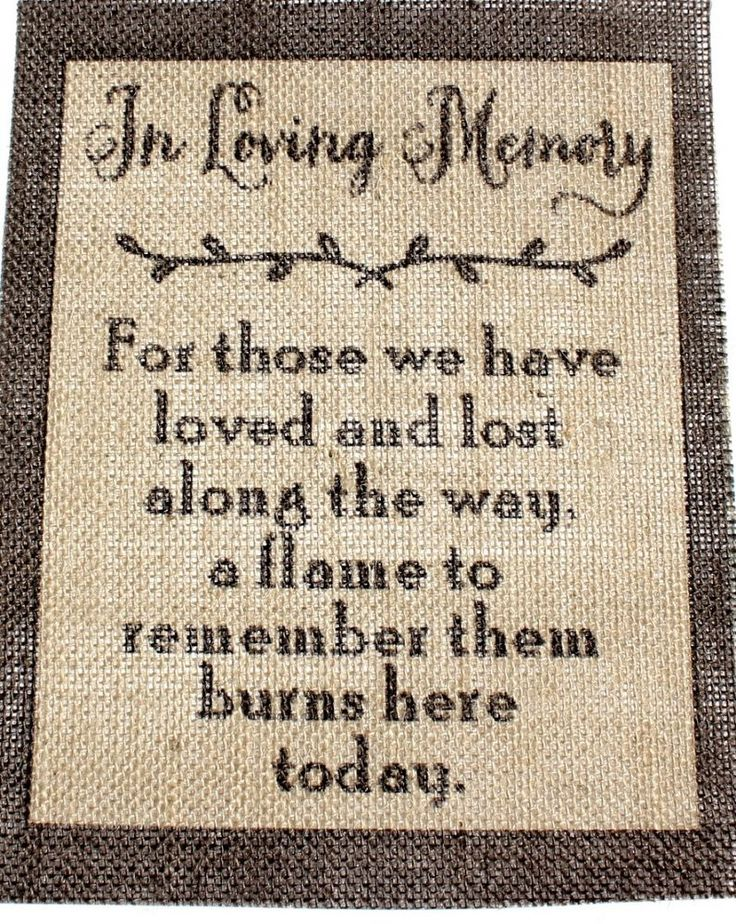 "Rustic Vintage Country Burlap Wedding Sign CANDLE LIT IN MEMORY OF THOSE 8x10"" #STUFFcc"