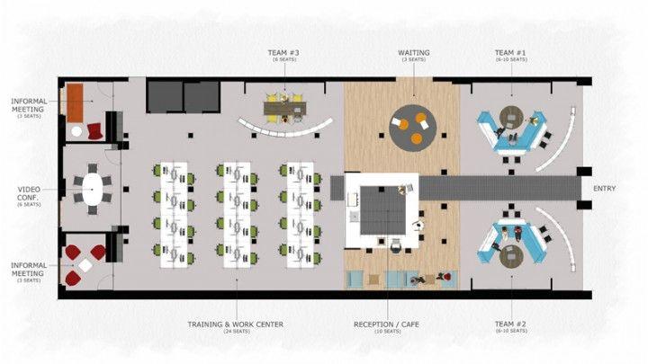Coworking Space Floor Plan WORK Pinterest