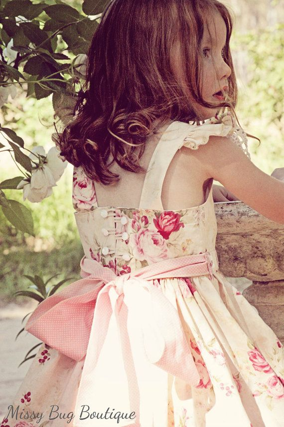 Bow Peep Party Dress PDF Sewing Pattern by Ainslee Fox for little girls size 1-12