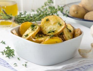Braterdäpfel+mit+Knoblauch+aus+der+Heißluftfritteuse