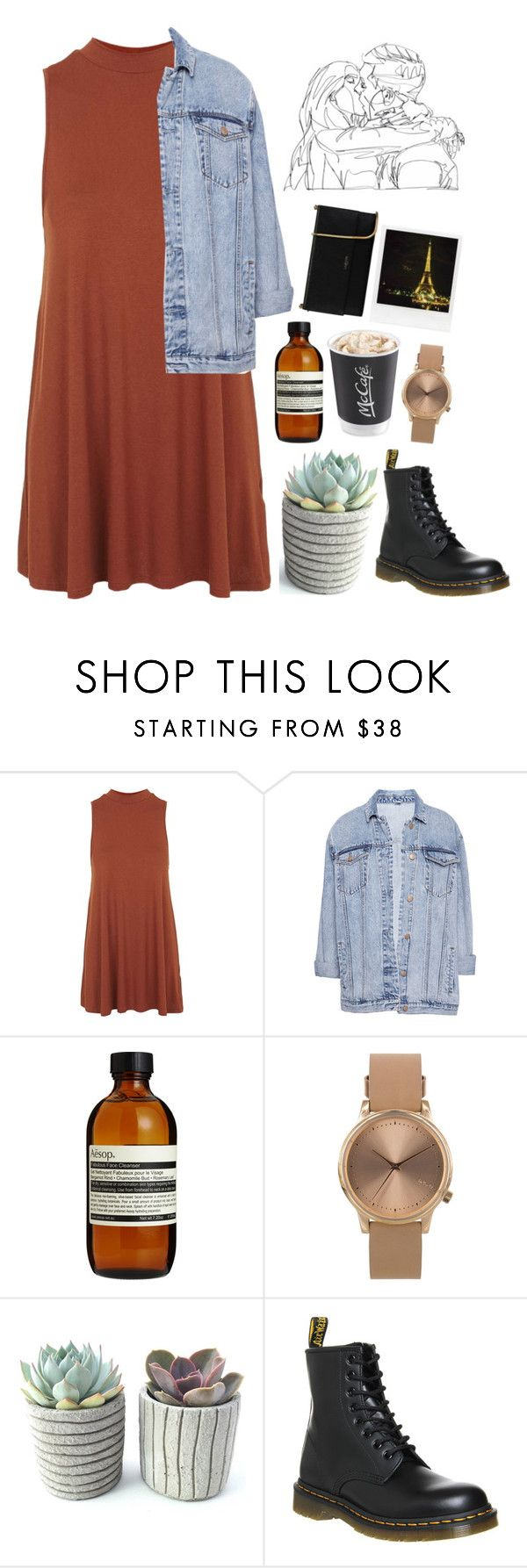 """The Lonesome Death Of Hattie Carroll//Cage The Elephant"" by thelonelyheartsclub ❤ liked on Polyvore featuring Topshop, Pull&Bear, Aesop, Dr. Martens, Polaroid and Lanvin"
