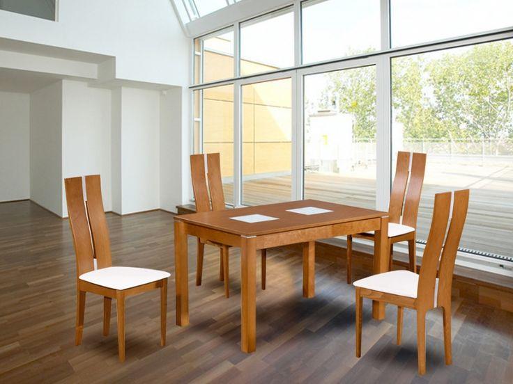 """Pack """"Tout pour ma salle à manger"""" SALENA - Coloris chêne -  5 produits"""