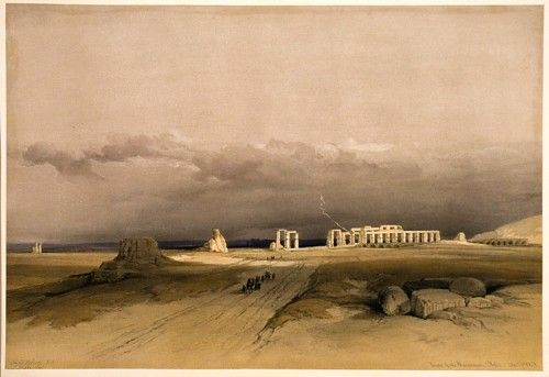 ROBERTS, David and Louis HAGUE. Ruins of the Memnonium, Thebes, Dec 5th 1838. #egypt