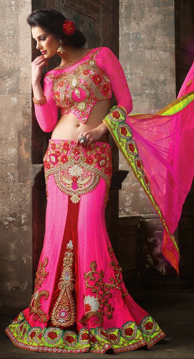 Mesmerizing Deep Pink Lehenga Choli