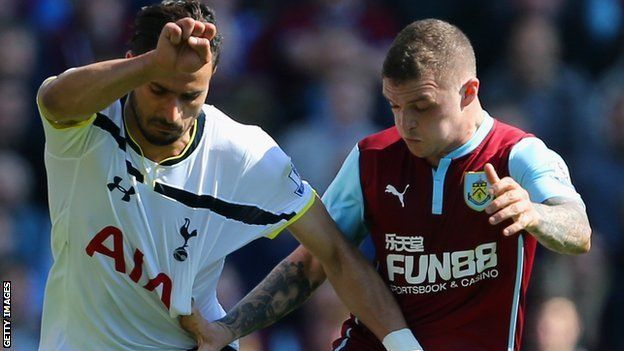 """Kieran Trippier: Tottenham complete deal for Burnley full-back  Tottenham have completed the signing of Burnley right-back Kieran Trippier on a five-year-deal. The 24-year-old moves to Spurs for an undisclosed fee from the Clarets, who he joined in 2012. The former Manchester City trainee made 185 appearances for Burnley, and started every Premier League game last season. """"When I first heard that the club was interested I didn't have to think twice,"""" Trippier said. """"It's such a big club and…"""