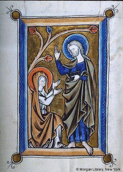 Noli Me Tangere from Psalter Flemish, 1250-1270 New York, Morgan Library