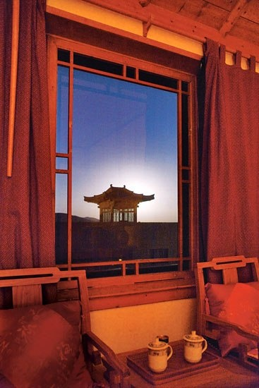 Visitors to the caves can rest their heads in imperial style at the Silk Road Dunhuang Hotel.