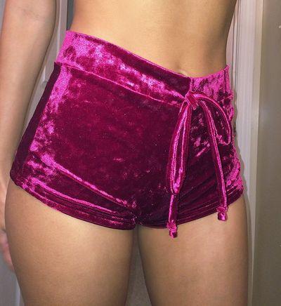 Short Velvet Shorts Pajamas Shorts
