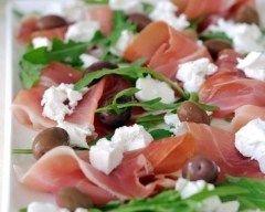Salade minceur viande des Grisons et feta (facile, rapide) - Une recette CuisineAZ