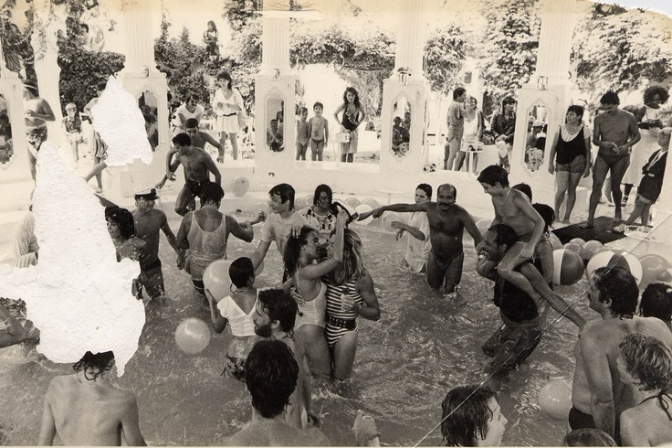 Water Party at Es Paradis in the 70s.
