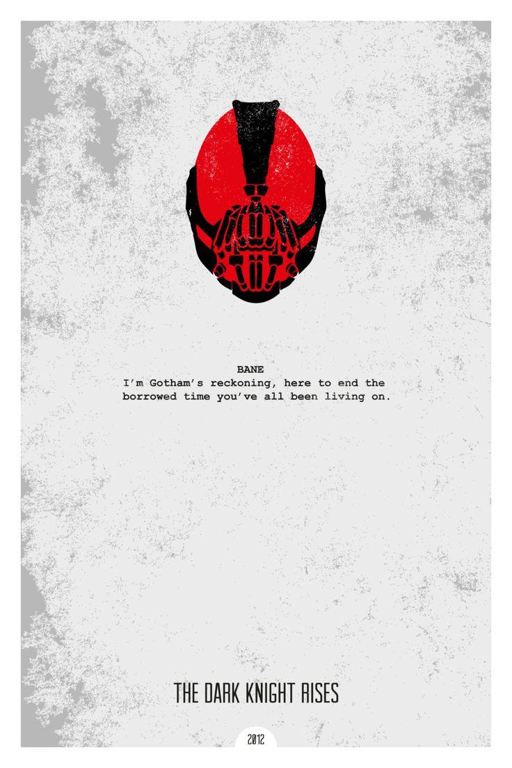 Foyer Minimalist Quote : The dark knight rises minimal movie quote poster