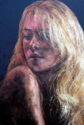 Blonde hair, 150x100 cm, oil on canvas