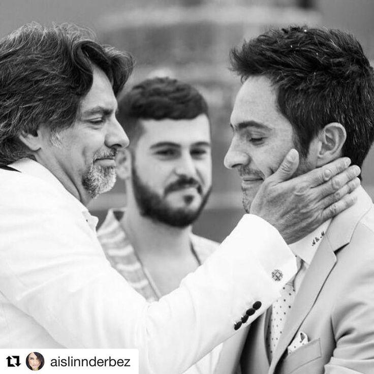 Gracias hija! Te amo! #Repost @aislinnderbez (@get_repost)  ・・・  Amo esta foto con estos 3 hombres amores de vida...  #FelizDiaDelPadre @ederbez @mauochmann y hasta @jaimekohen (por todos tus niños de @laesquinatulum 😜)
