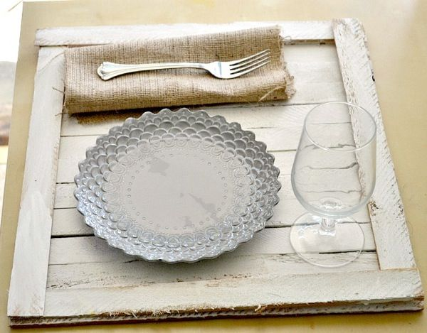DIY Rustic Tabletop Tray...making these as placemats for the breakfast bar