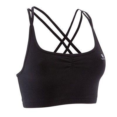 Danza Abbigliamento fitness - Top donna danza nero DOMYOS - Abbigliamento Palestra